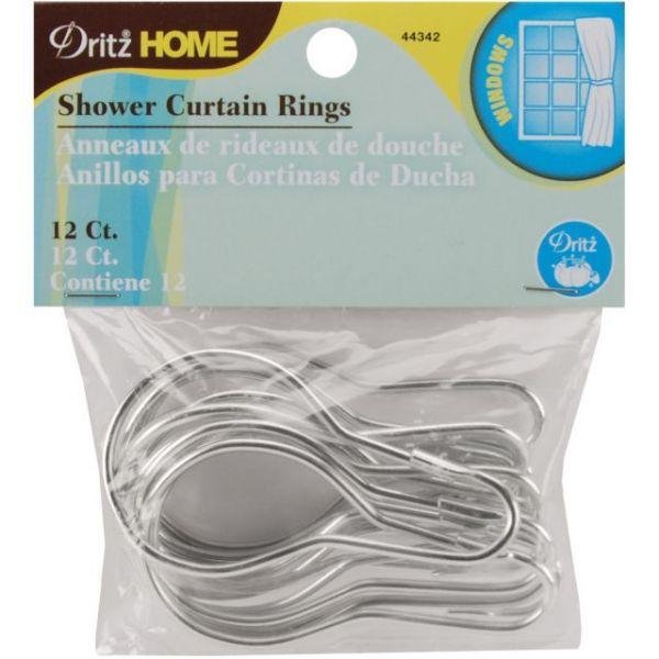 """Shower Curtain Rings 2-3/4""""X1-1/2"""" 12/Pkg"""