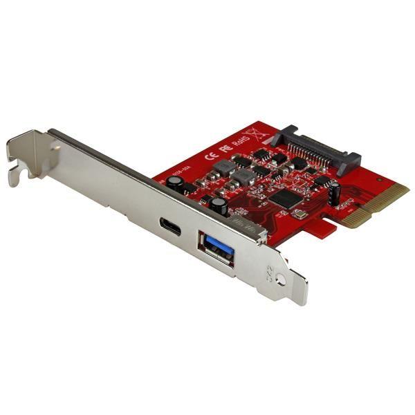 StarTech.com 2 Port USB 3.1 (10Gbps) Card - 1x USB-C, 1x USB-A - PCIe - USB C Gen 2 - USB Type-C Card - PCI Express USB Type C Controller