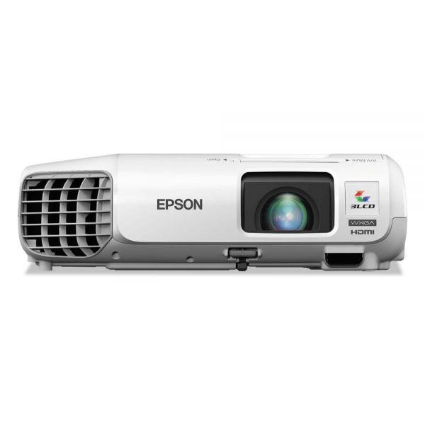 Epson PowerLite W29 WXGA 3LCD Projector, 3000 Lumens, 1024 x 768 Pixels, 1.2x Zoom