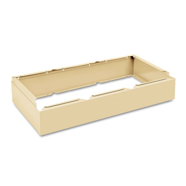 Tennsco Three Wide Closed Locker Base, 36w x 18d x 6h, Sand