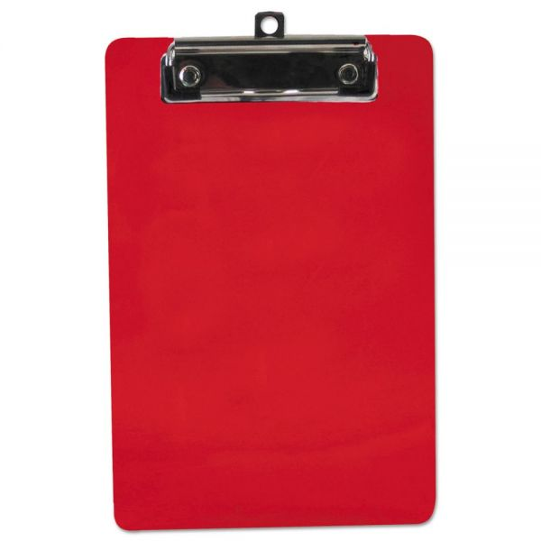 "Saunders 6"" x 9"" Red Plastic Clipboard"