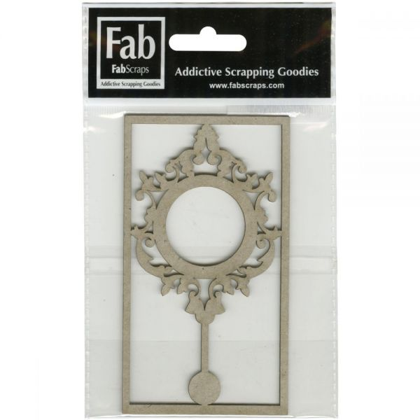 FabScraps Shabby Rose Die-Cut Gray Chipboard Shape