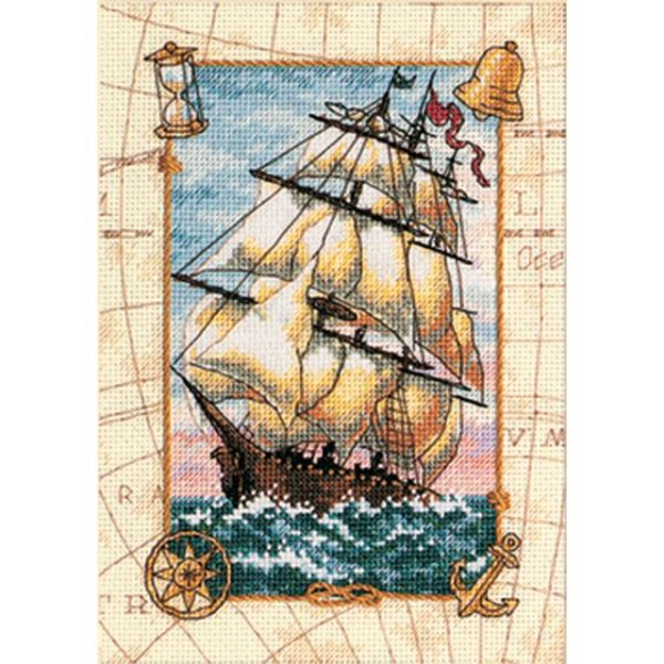 Dimensions Gold Petite Voyage At Sea Counted Cross Stitch Kit