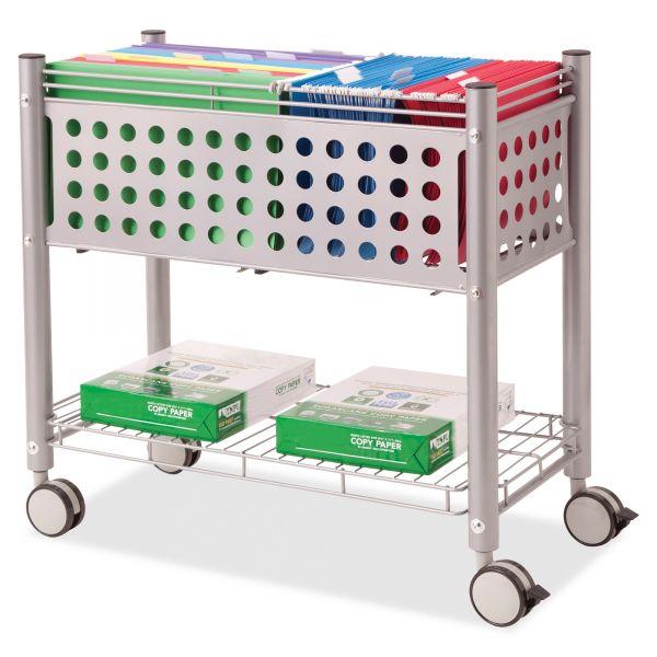 Vertiflex Open Top Rolling File Cart
