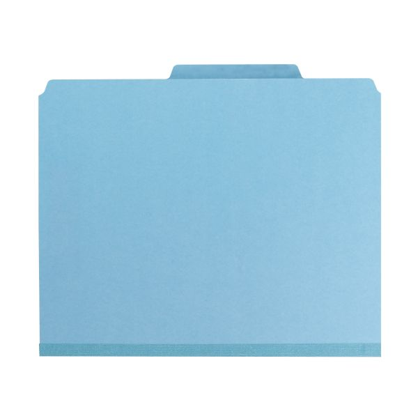 Smead 3-Divider Pressboard Classification Folders with SafeSHIELD Fasteners