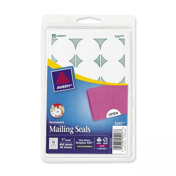 Avery 5247 Permanent Mailing Seals