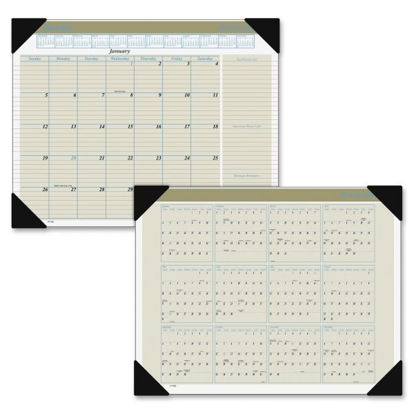 Visual Organizer Executive Monthly Desk Pad Calendar