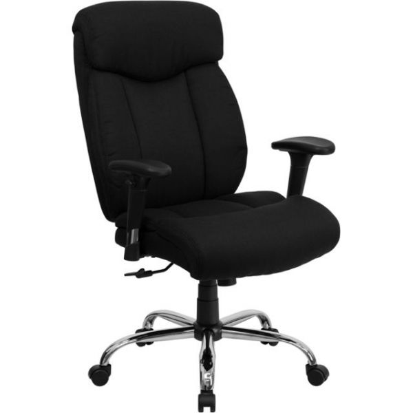 Flash Furniture Big & Tall Executive Swivel Office Chair [GO-1235-BK-FAB-A-GG]