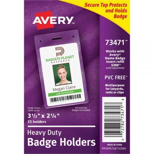 Avery Heavy Duty Secure Top Badge Holders