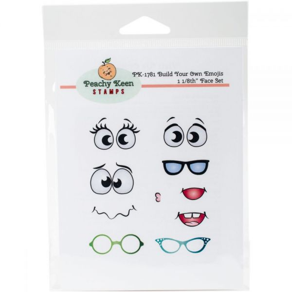 Peachy Keen Stamps Clear Face Set 10/Pkg