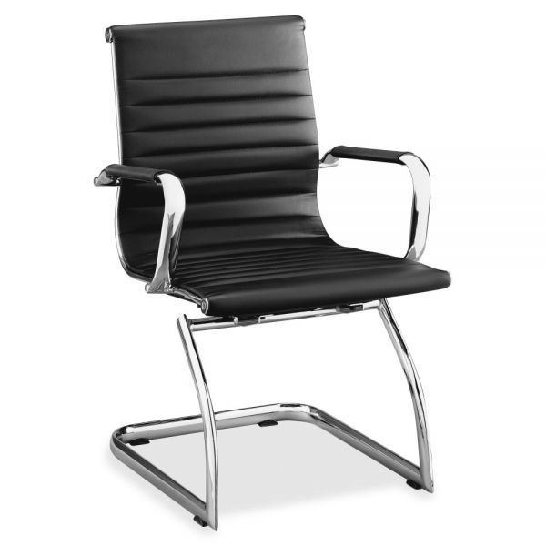 Lorell Modern Chair Mid-back Leather Guest Chairs