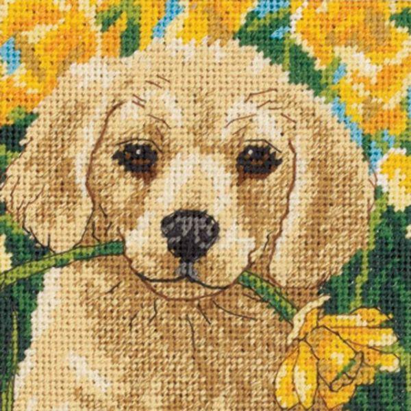 Puppy Mischief Mini Needlepoint Kit