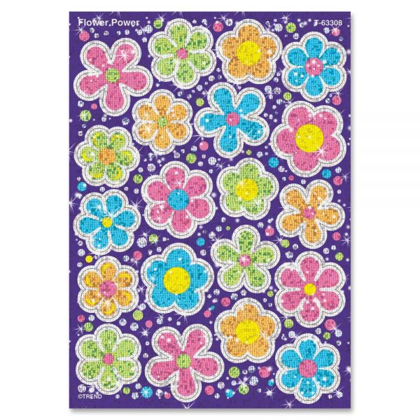 Trend Flower Power Sparkle Stickers