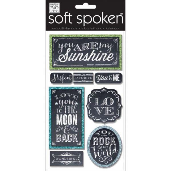 Soft Spoken Themed Embellishments