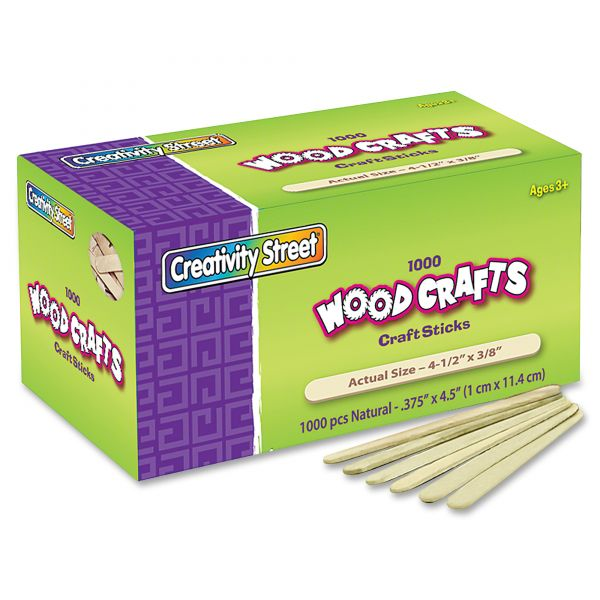 Chenille Kraft Natural Wood Craft Sticks