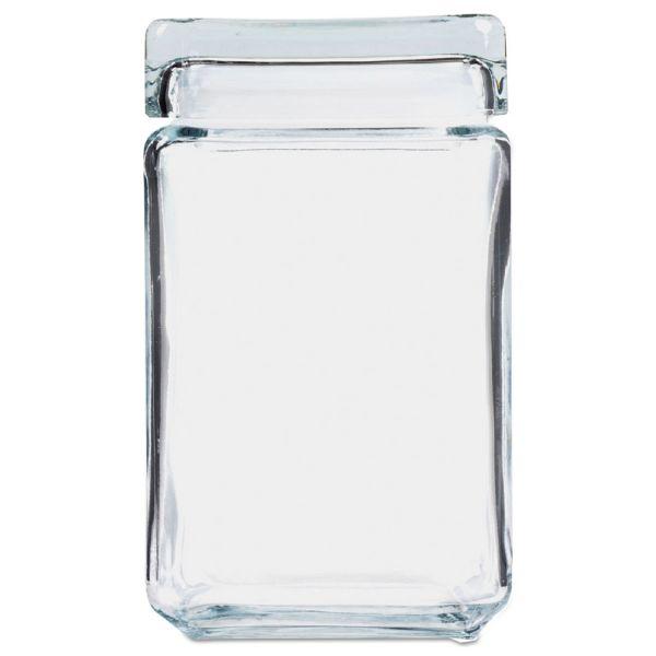 Office Settings Clear Glass Jar