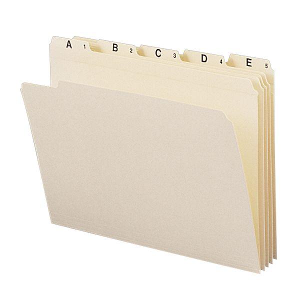 Smead 11777 Manila Indexed File Folder Sets