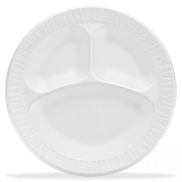 """Dart 10"""" Foam Compartment Plate"""