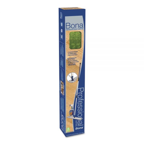 "Bona Hardwood Floor Care Kit, 18"" Head, 72"" Handle, Blue"