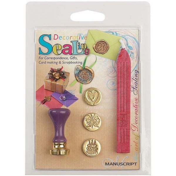 Decorative Sealing Set W/Pink Wax