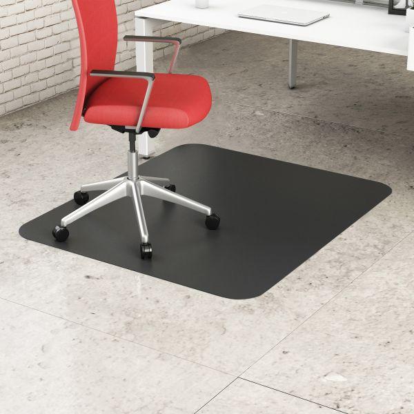 deflecto EconoMat Anytime Use Black Chair Mat
