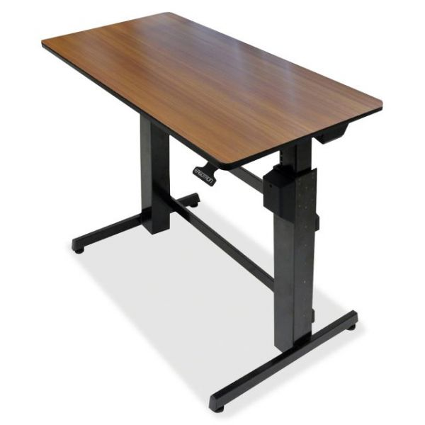 Ergotron WorkFit-D, Sit-Stand Desk (Walnut Surface)