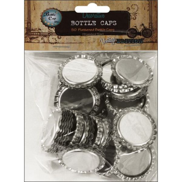 "Vintage Collection Flattened Bottle Caps 1"" 50/Pkg"