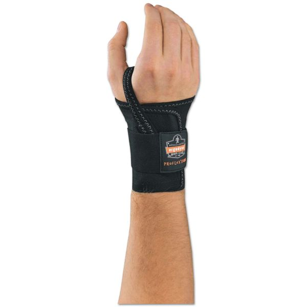 "ergodyne ProFlex 4000 Wrist Support, Left-Hand, Large (7-8""), Black"