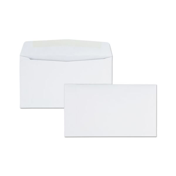 Quality Park Business Envelope, #6 3/4, 3 5/8 x 6 1/2, White, 500/Box