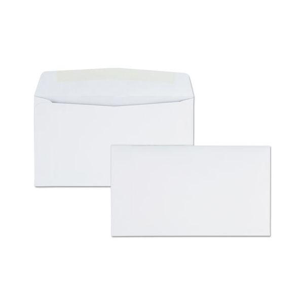Quality Park Business Envelope, #6 3/4 (3 5/8 x 6 1/2), Gummed Seal, 500/Box