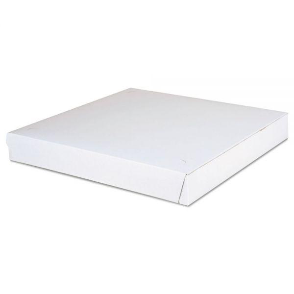 SCT Paperboard Pizza Boxes,14 x 14 x 1 7/8, White, 100/Carton