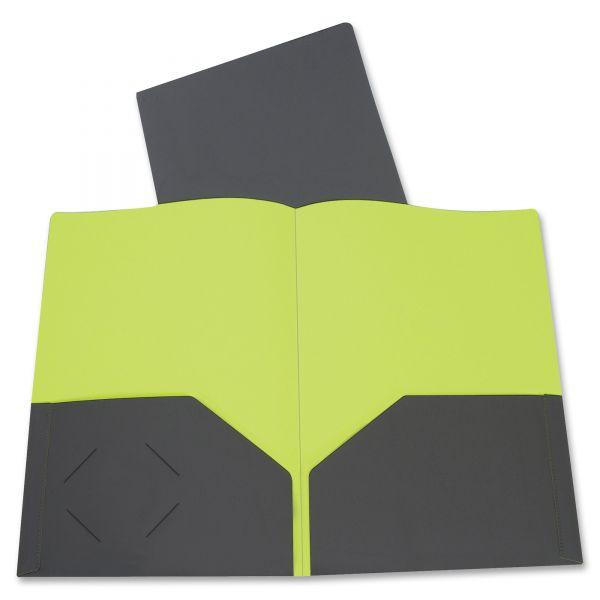 C-Line Two-Tone Two-Pocket Poly Portfolios