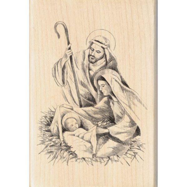 "Inkadinkado Christmas Mounted Rubber Stamp 2.75""X4"""