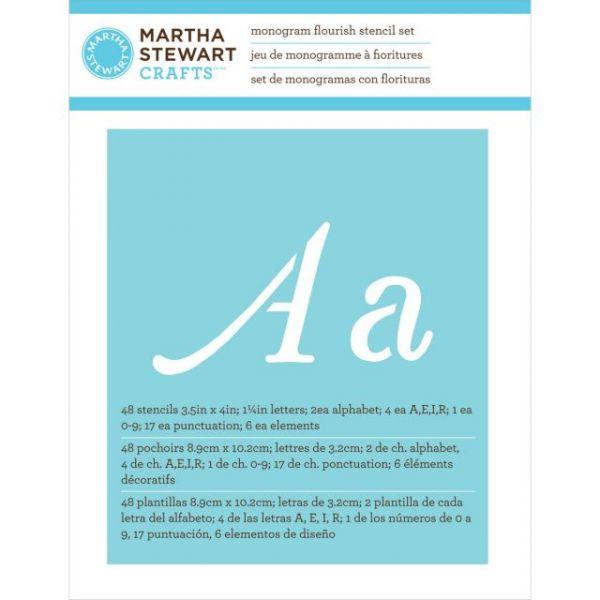 Martha Stewart Large Alphabet Stencils 48/Pkg