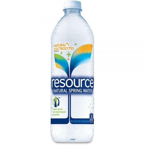 Resource Natural Spring Bottled Water