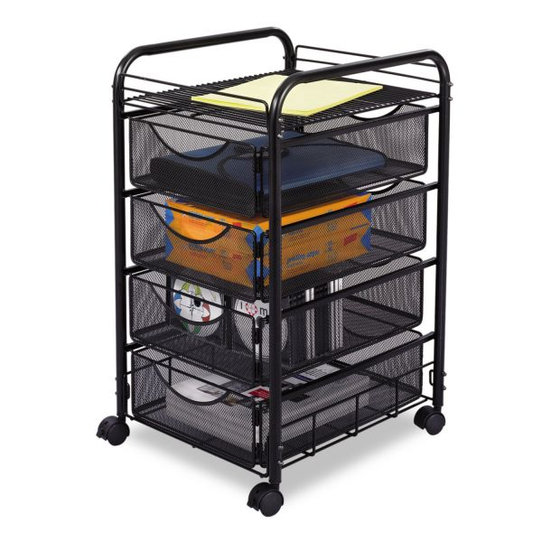 Safco Onyx Mesh Mobile File Cart