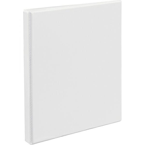 "Avery Heavy-Duty Non Stick 3-Ring View Binder, 1/2"" Capacity, Slant Ring, White"