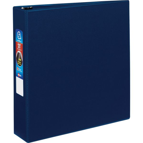 """Avery Heavy-Duty Binder with One Touch EZD Rings, 11 x 8 1/2, 2"""" Capacity, Navy Blue"""