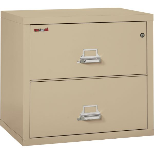 FireKing Two-Drawer Lateral File, 31 1/8w x 22 1/8d, UL Listed 350°, Ltr/Legal, Parchment
