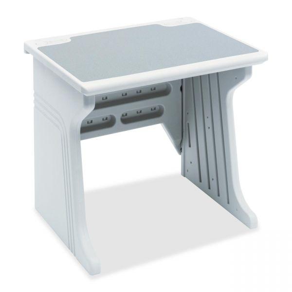 Iceberg Aspira Modular Desk, Resin, 34w x 28d x 30h, Granite/Platinum