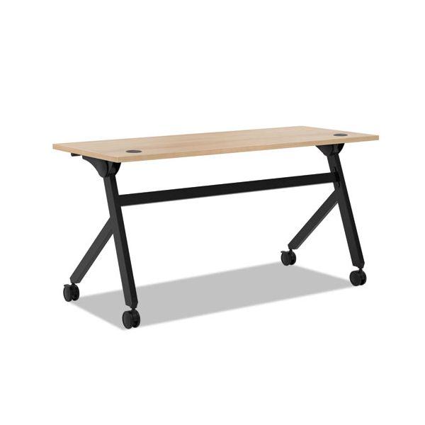 HON Multipurpose Table Flip Base Table, 60w x 24d x 29 3/8h, Wheat