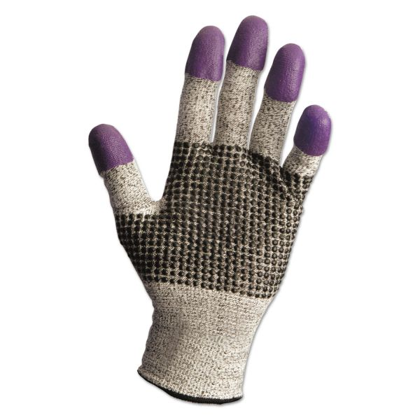 Jackson Safety* G60 Purple Nitrile Gloves, 250mm Length, XL/Size 10, Black/White, 12 Pair/Carton