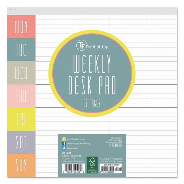 TF Publishing Glory Days Undated Weekly Desk Pad