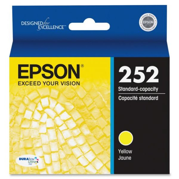 Epson 252 DURABrite Ultra Yellow Ink Cartridge (T252420)