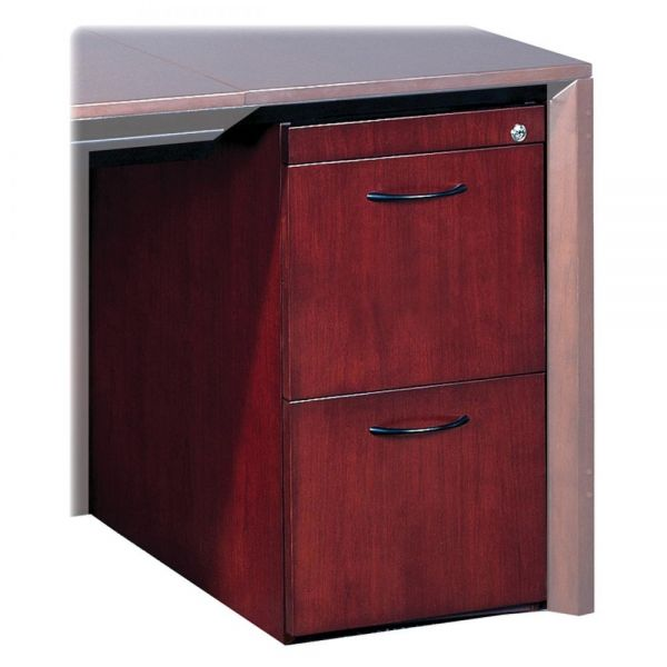 Tiffany Industries File/File Pedestal For Desk, 15W x 24D x 27H, Mahogany