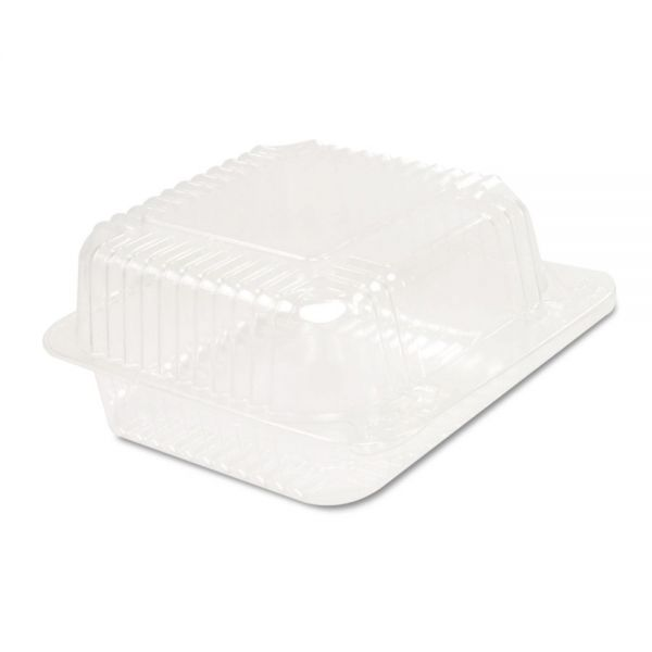 Dart Staylock Clear Hinged Container, Plastic 5 3/10x5 3/5x2 4/5 Clear 125/BG 4 BG/CT