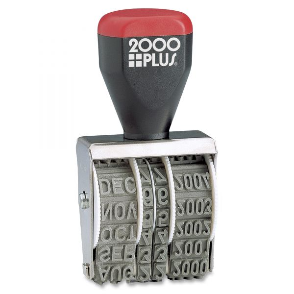 """COSCO 2000 PLUS Traditional Date Stamp, Six Years, 1 3/8 x 3/16"""""""