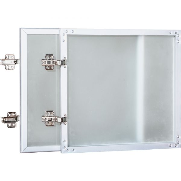 Lorell Wall-Mount Hutch Frosted Glass Door