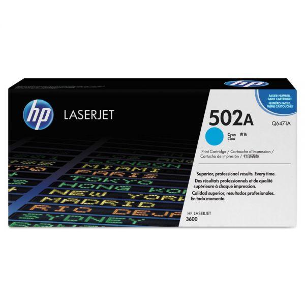 HP 502A Cyan Toner Cartridge (Q6471AG)