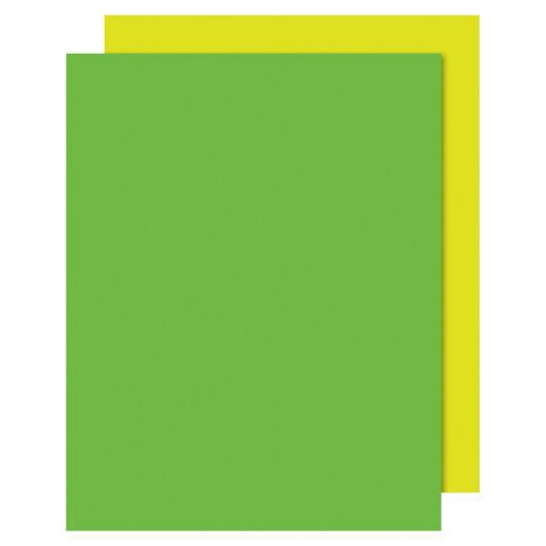 Eco Brites Too Cool Foam Board, 20x30, Fluorescent Yellow/Green, 5/Carton